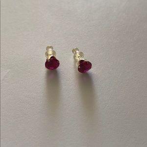 10k Gold Ruby studs earrings